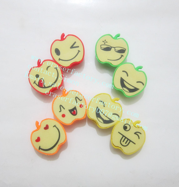 LXS107 Smile Apple Erasers