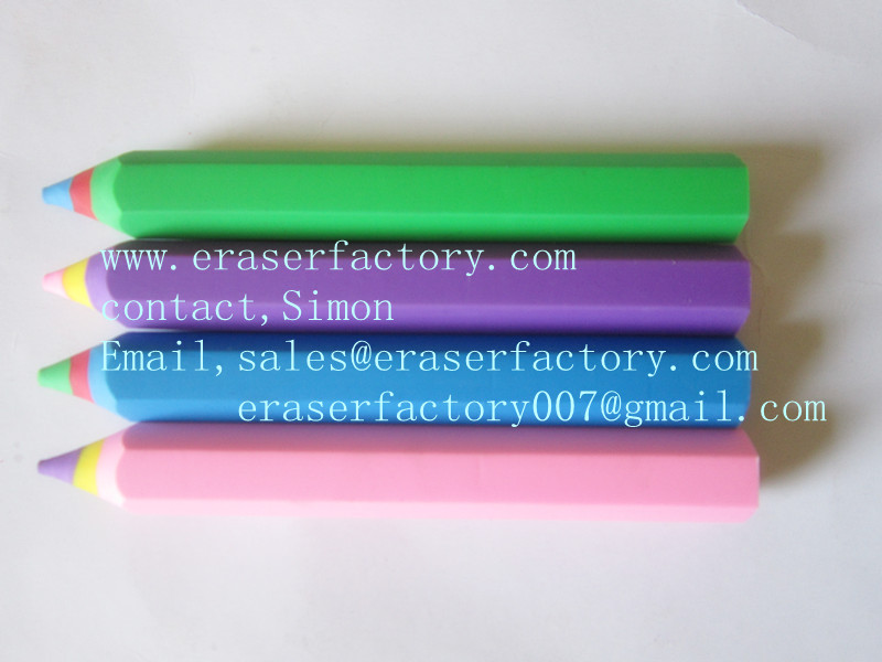 LXS116  Color Pencil Shaped Erasers