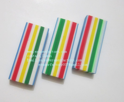 LXC31 colorful rectanglar office erasers