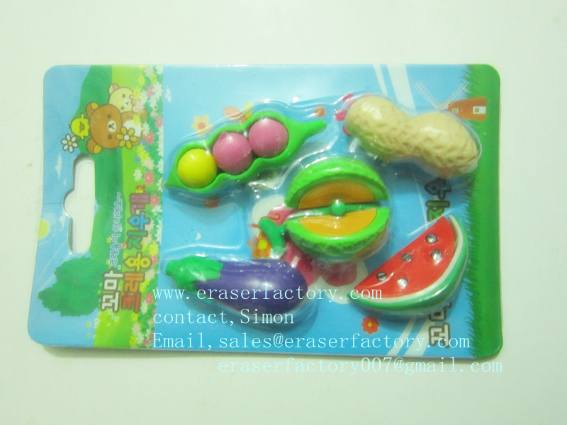 LXB360 Novelty Food Erasers