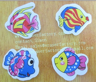 LXS20  cartoon fish erasers