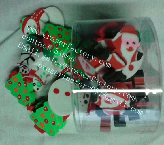 LXB5  christmas erasers