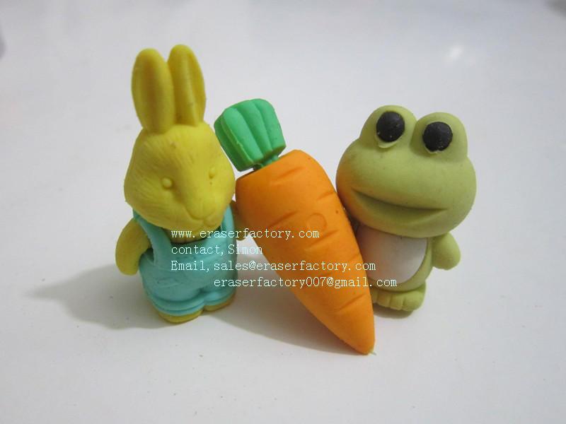 LXS26  3D Easter  erasers