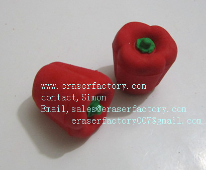 LXF16  red pepper erasers