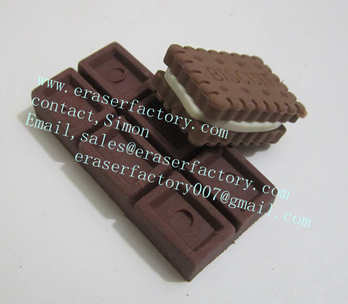 80's biscuit / chocolate erasers