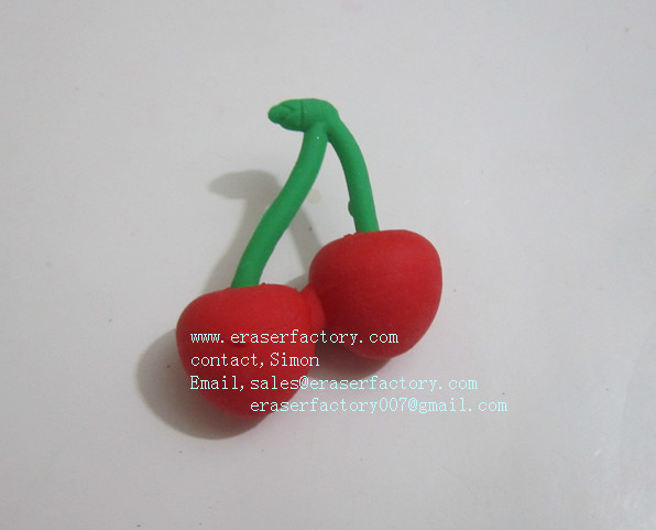 LXF10  cute cherry erasers