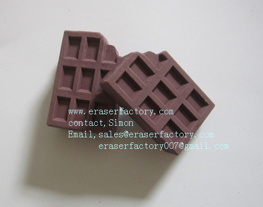 LXF46  chocolate novelty erasers