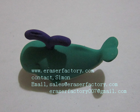 LXA16  whale shaped  novelty erasers