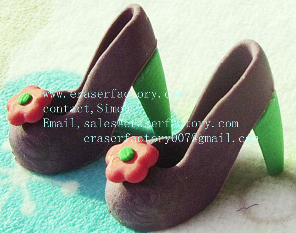 high heel shoes OEM erasers