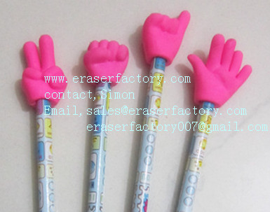 LXS28   finger gesture pencil toppers