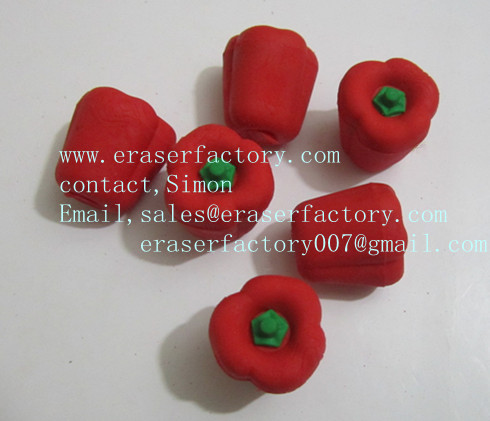 LXF16  red pepper promotional erasers