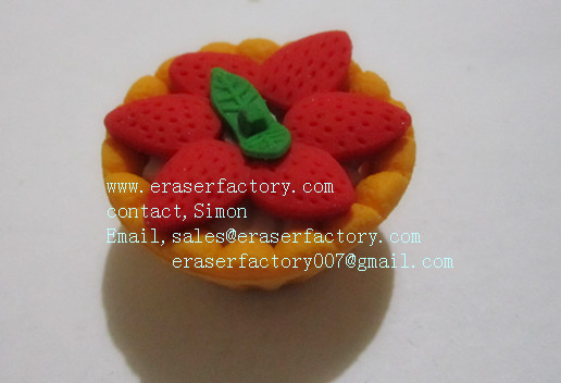 LXF28  strawberry cake promotional erasers