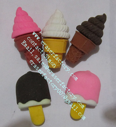 icecream promotional erasers