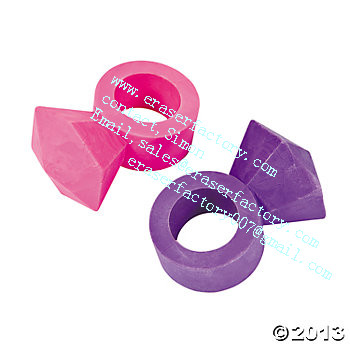 LXU3  diamond ring promotional erasers