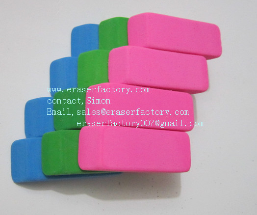 LXC23  beveled office erasers