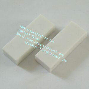 LXC26  cheap rectanglar white erasers