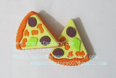LXF50  Pizza  triangle erasers