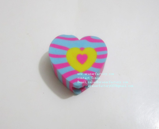 LXU89  New Visional Heart Erasers