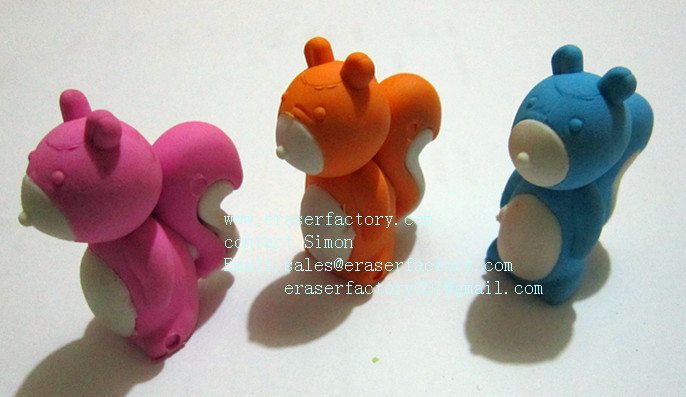 LXA20 Squirrel Animal Erasers