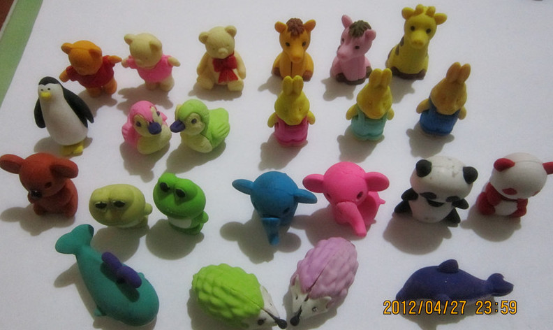 3D animal erasers assortment