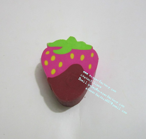 LXF65 New Design Strawberry Erasers