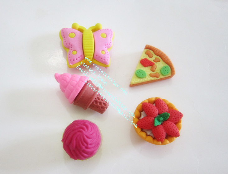 LXS89  fancy 3D erasers 5 kinds