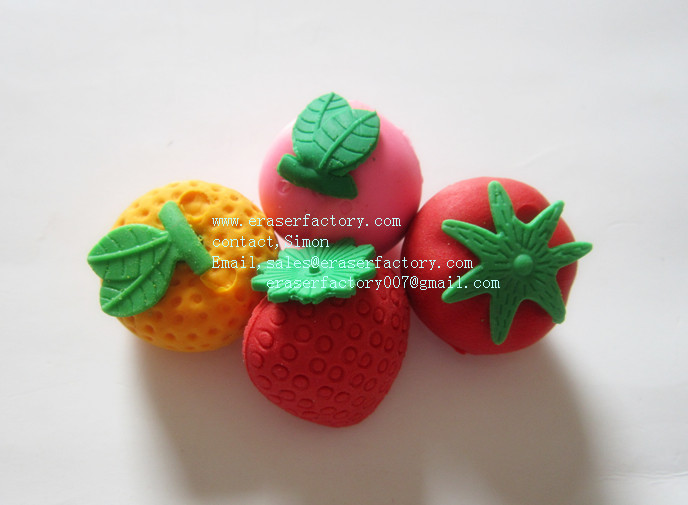 LXS36  Fresh Fruit 3D Erasers