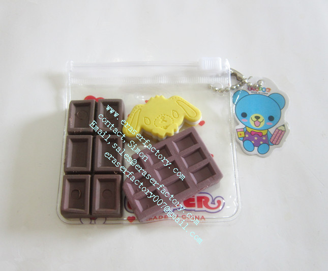 LXN29  biscuit and chocolate erasers
