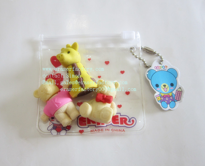 LXN31 Cute Animal Erasers