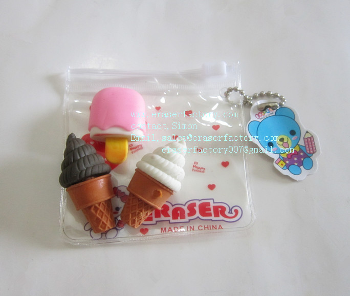 LXN33  Icecream Erasers