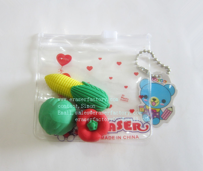 LXN43   Vegetable Erasers