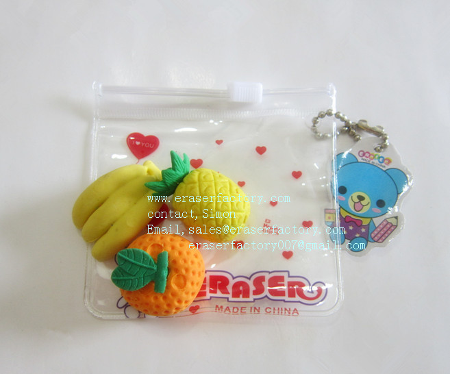 LXA44  Fruit Erasers