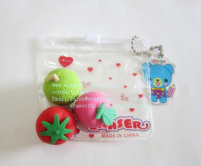 LXN47  Fruit Erasers