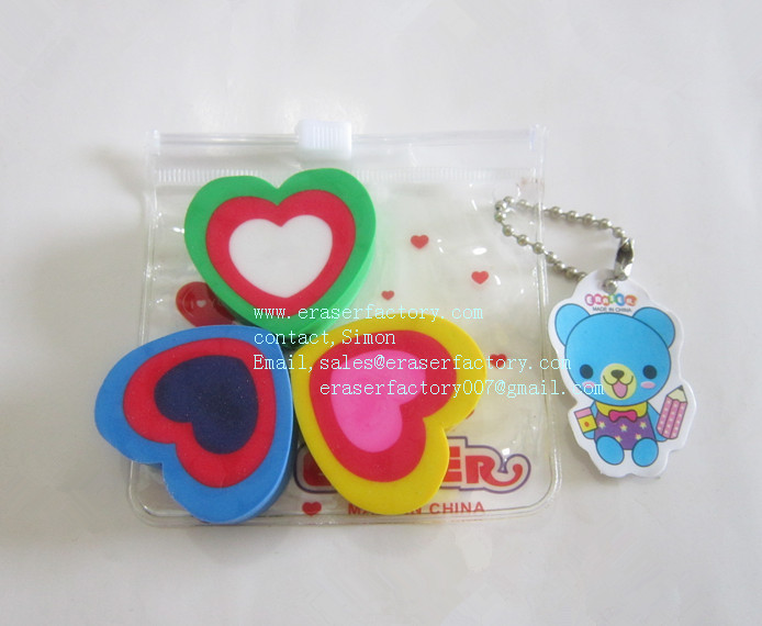 LXN49  Overlaped Heart Erasers