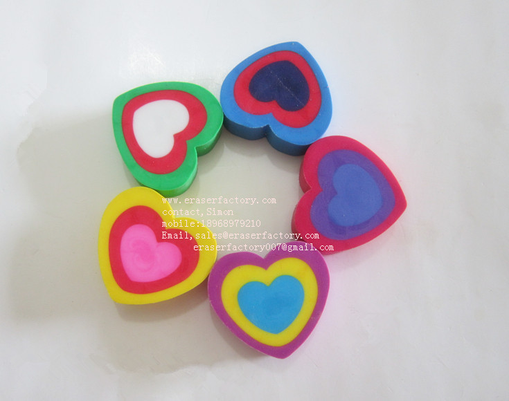 LXU134 multiple heart erasers