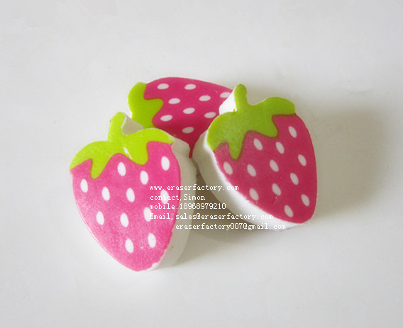 LXP59  Strawberry Erasers